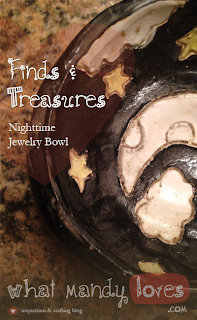 Finds & Treasures: Homemade Jewelry Bowl via www.whatmandyloves.com