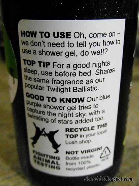 domokie product review lush twilight shower gel. Black Bedroom Furniture Sets. Home Design Ideas