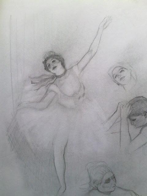 estudio bailarinas Degas