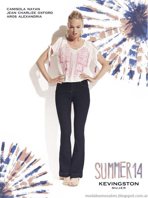 Kevingston Mujer 2014. Moda 2014. Moda jeans oxford.