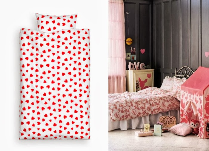 H&M bedding hearts