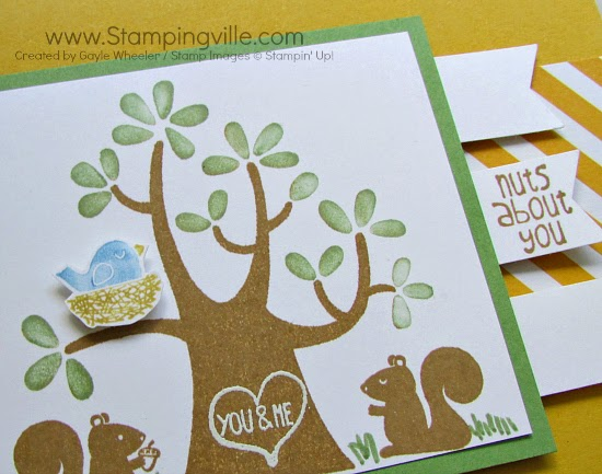 Cute images from Stampin' Up! Nuts About You Hostess Stamp Set.