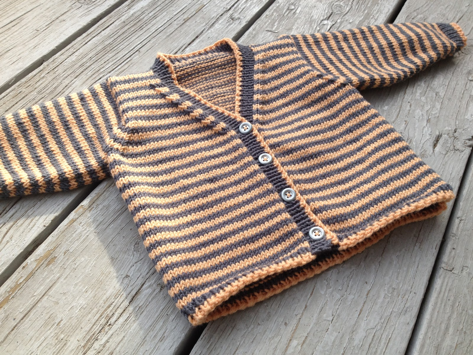 Pattern- Baby Striped Cardigan