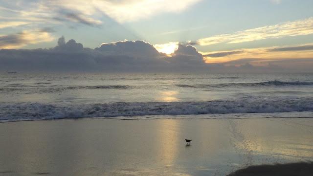 Ocean Waves Off Cocoa Beach Florida At Sunrise