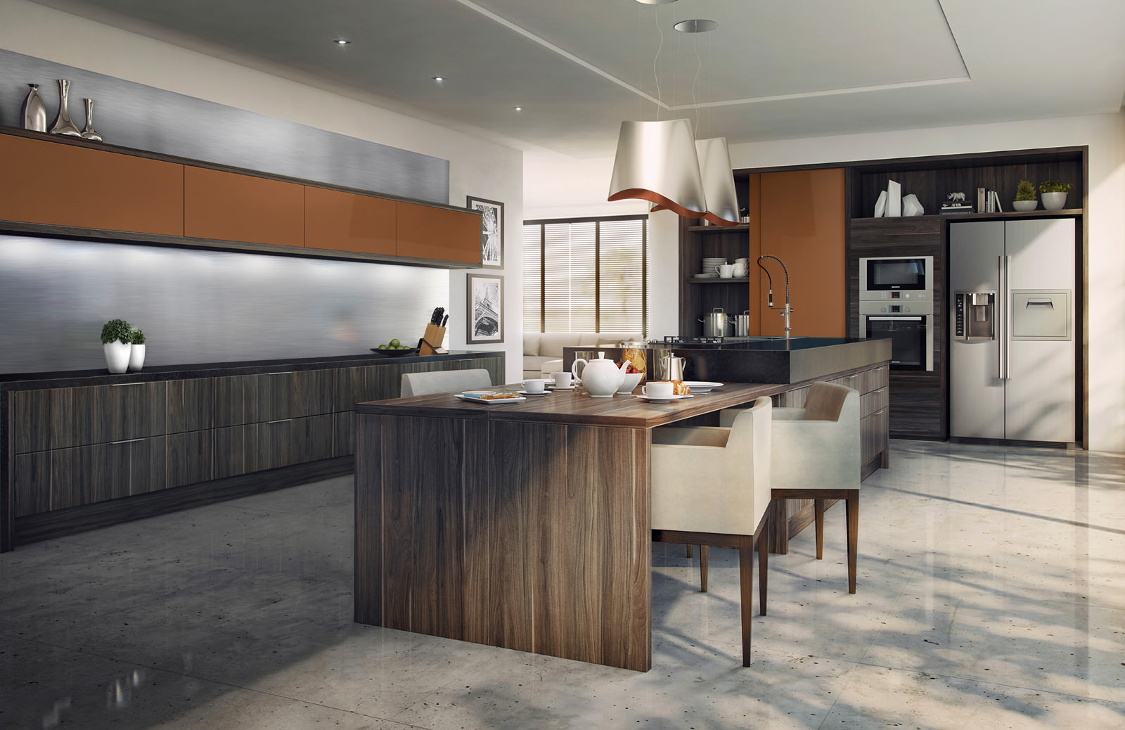 Cozinhas planejadas: Cozinhas planejadas Todeschini #704A32 1600 1038