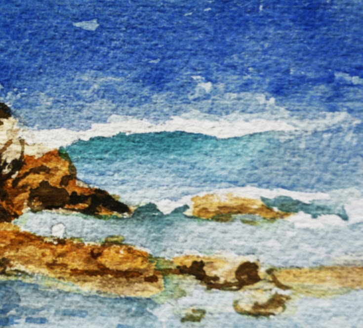 water painting shore