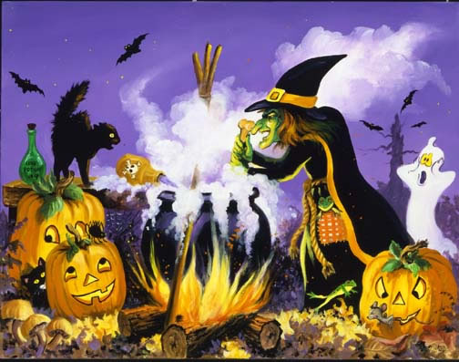 Halloween Wallpaper: Witch Brew