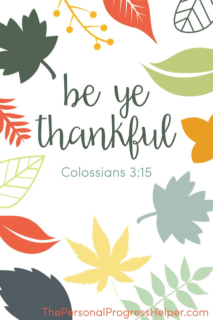 """Be Ye Thankful"" Printable for Divine Nature 6 Gratitude Challenge"