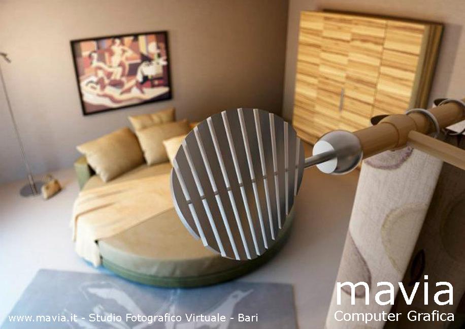 Arredamento di interni 3d oggetti 3d rendering bastoni per tende in acciao per camera da - Oggetti camera da letto ...