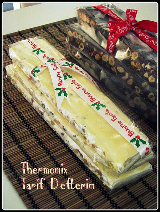 White Torrone with Nuts and Fruits