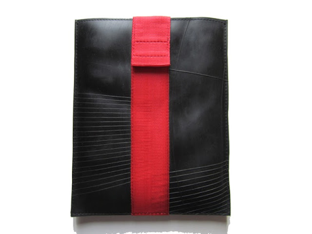 iPad sleeve made from recycled tyres designed by Alkemi