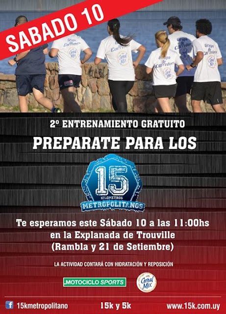 Segundo entrenamiento en plaza Trouville preparando 15k Metropolitanos 2015 (Pocitos, 10/oct/15)