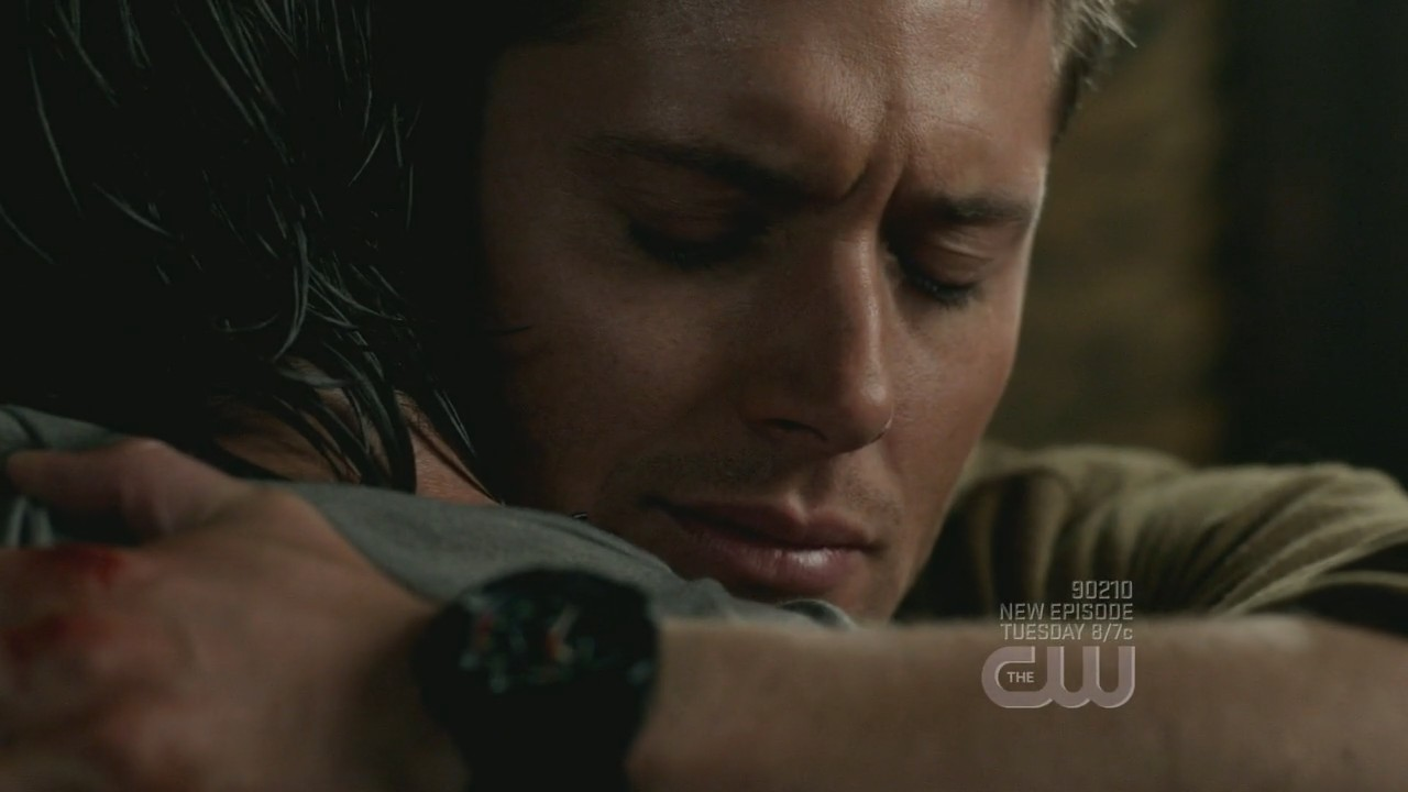 dean and sam hugging 
