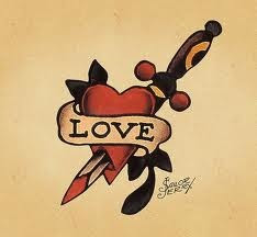 sailor jerry heart arrow  Posted by Blood and