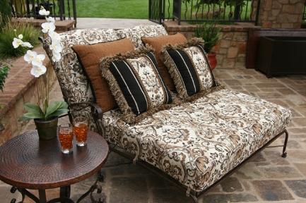Cojines en el jard n ideas para decorar dise ar y - Cojines para sillas de jardin ...