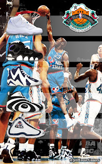 1996 nba all star, jordan, kemp, shaq, hill, barkley