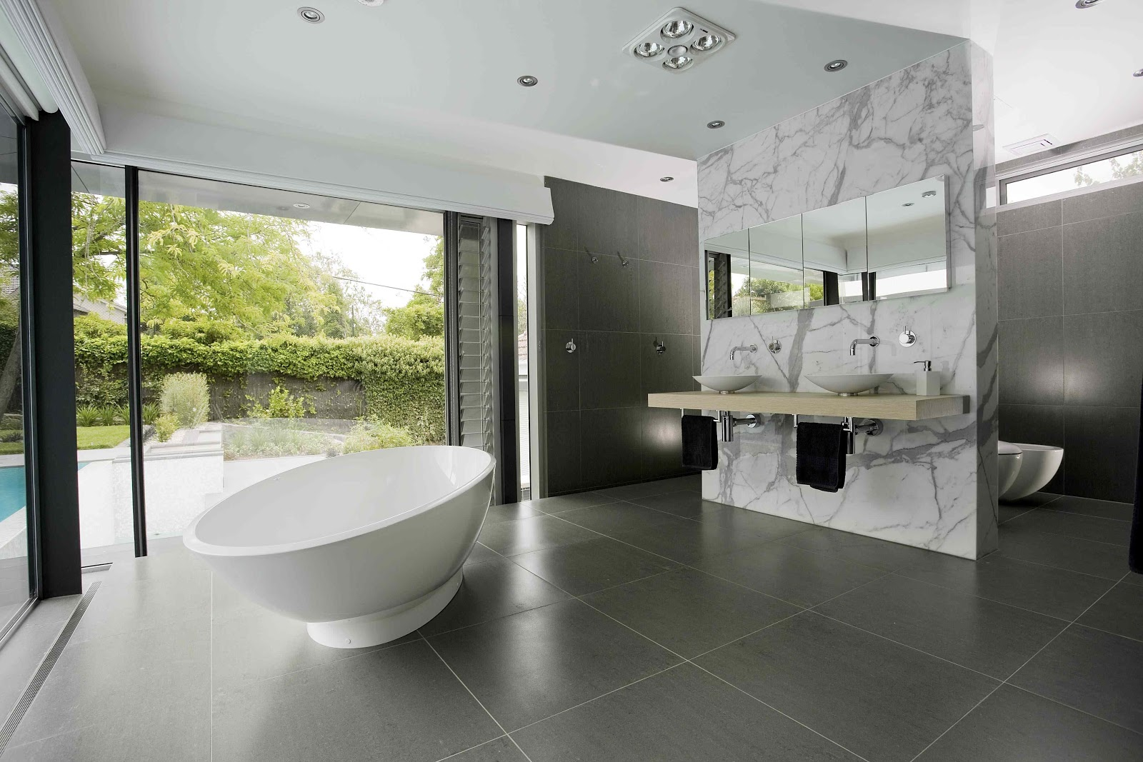 RELAX Does This Image Say Anything Else The Stunning Bath With Ceiling Mounted Filler Really Defines Open Plan Ensuite