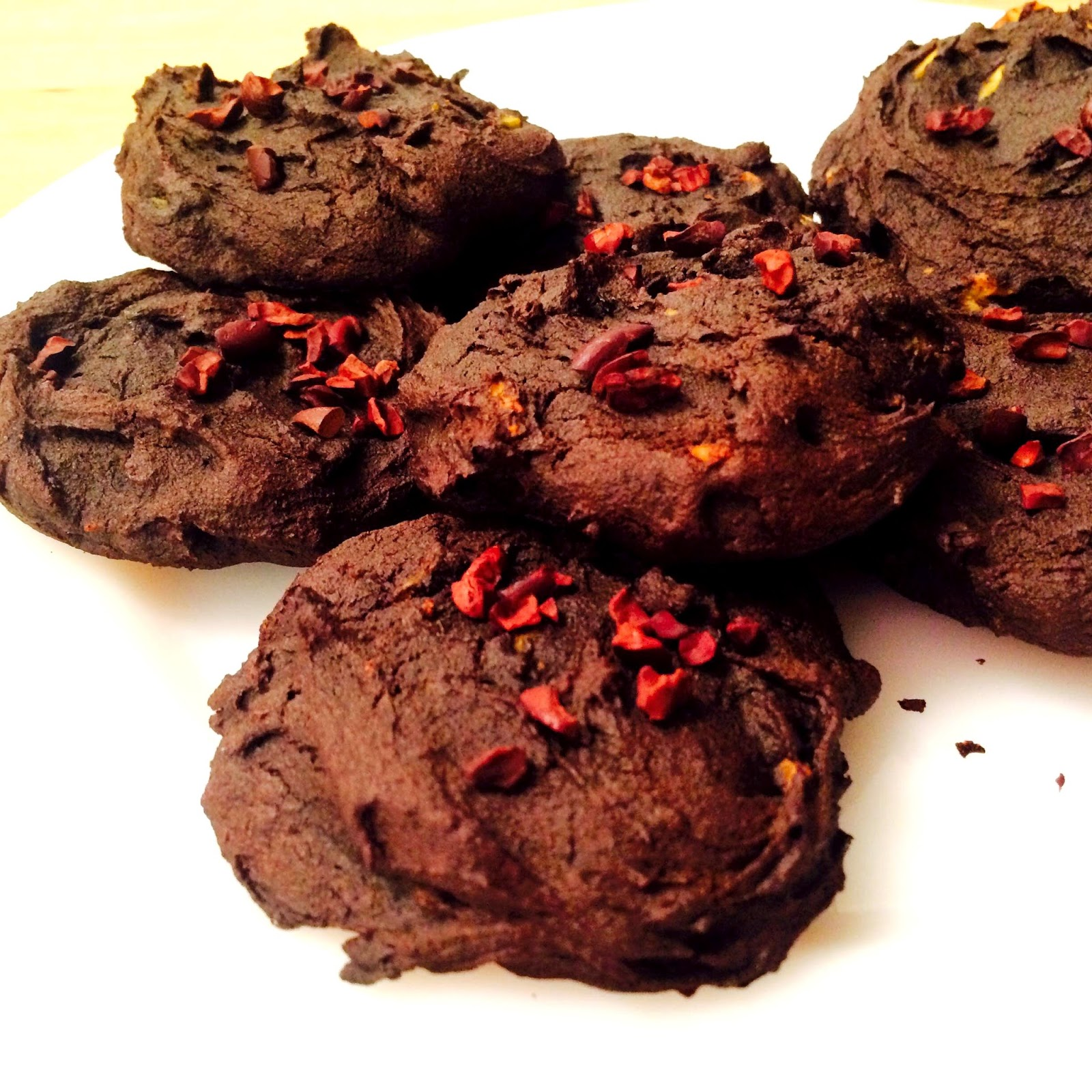 Healthy and Gluten Free Double Dark Chocolate Avocado Cookies Recipe