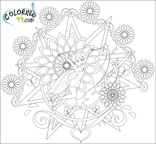 art tinkerbell coloring pages