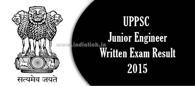 UPPSC Junior Engineer Result 2015 uppsc.nic.in