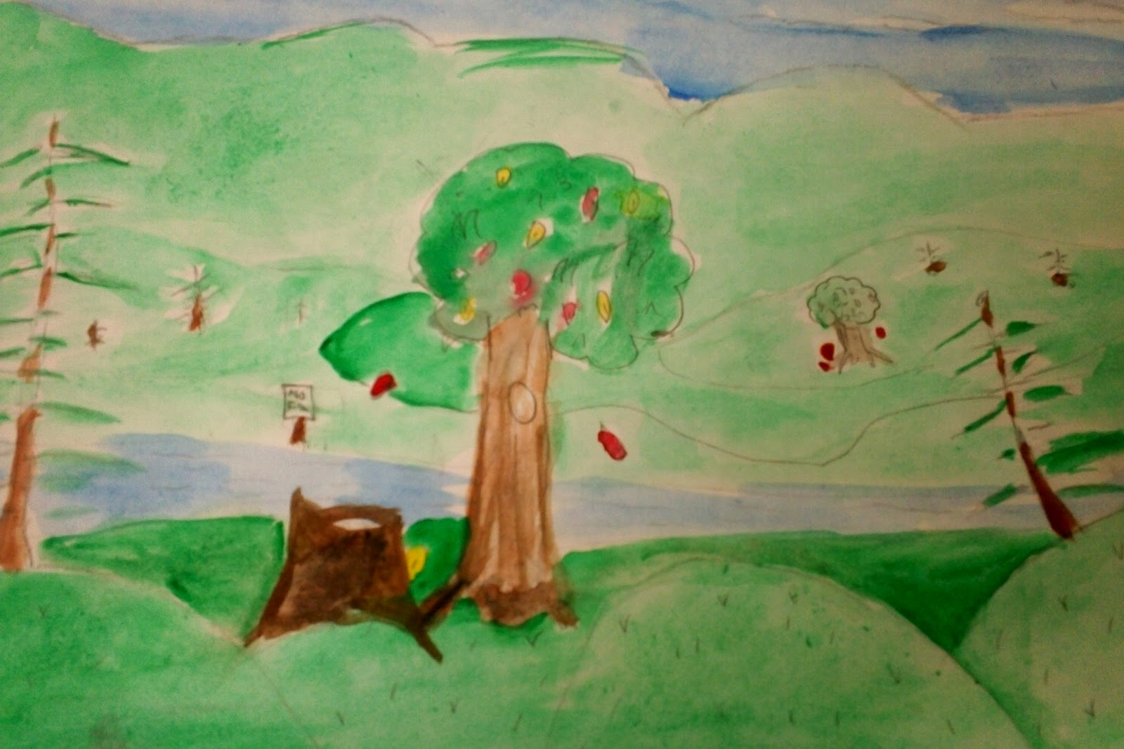 Easy Scenery Pictures To Paint For Th Grade