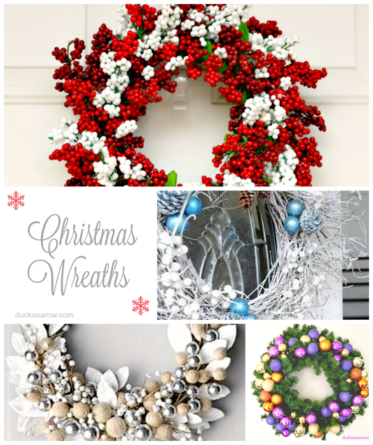 Christmas decorations, wreaths, holidays