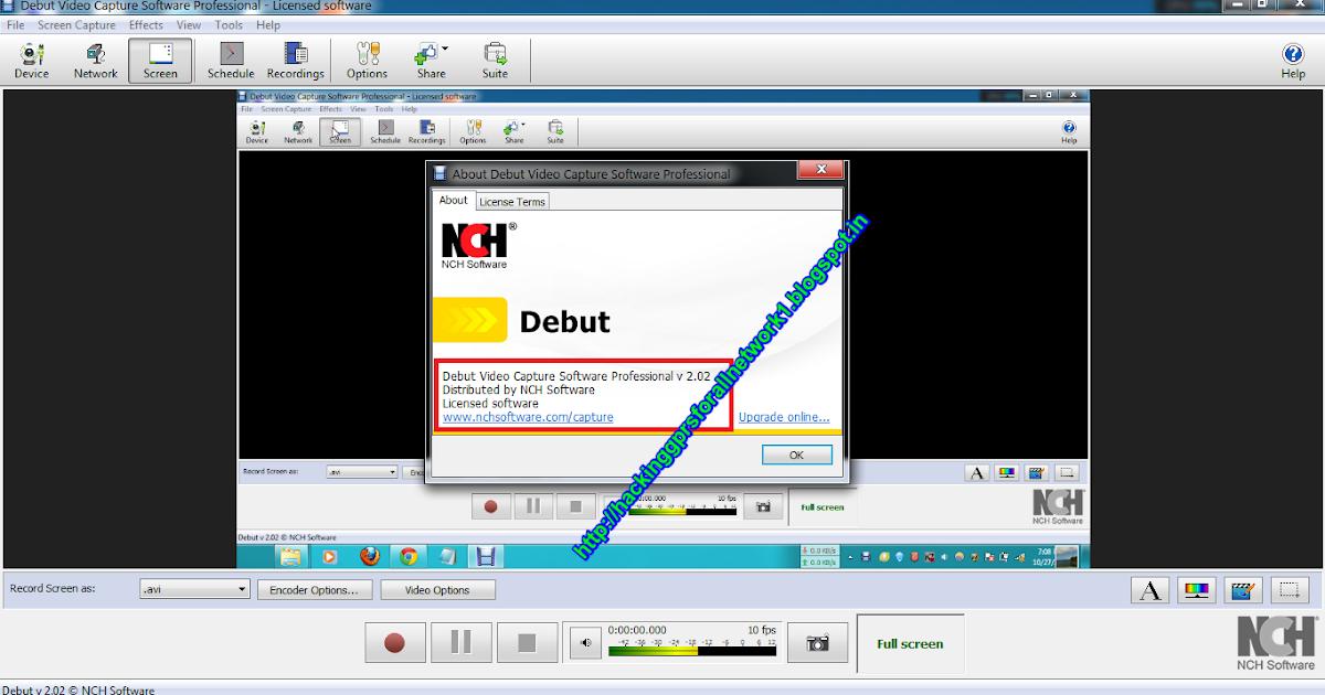 Debut Capture Software crack