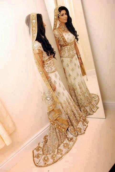 amazing light color bridal dress 2015