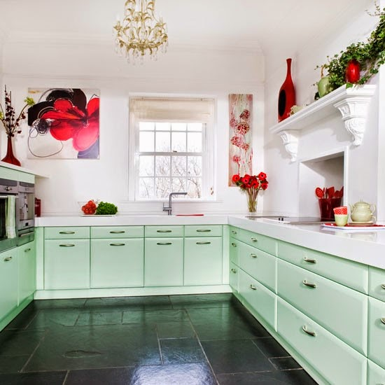 Mint Green Kitchen Paint: 21 Rosemary Lane: Vintage Colors
