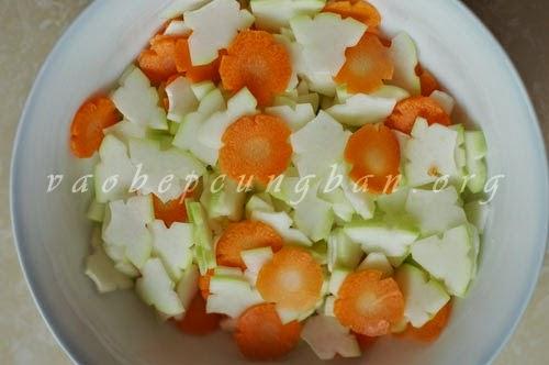 dưa góp đu đủ cà rốt 2