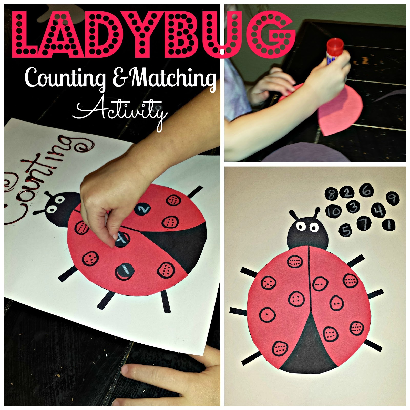 Diy Ladybug Number Counting And Matching Activitycraft For Kids pertaining to Art And Craft Ideas With Numbers