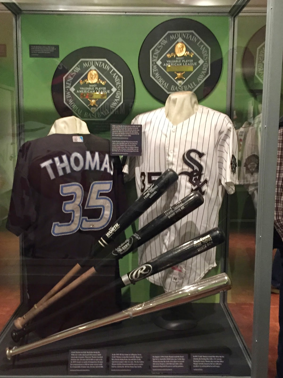Frank Thomas Hall of Fame Display