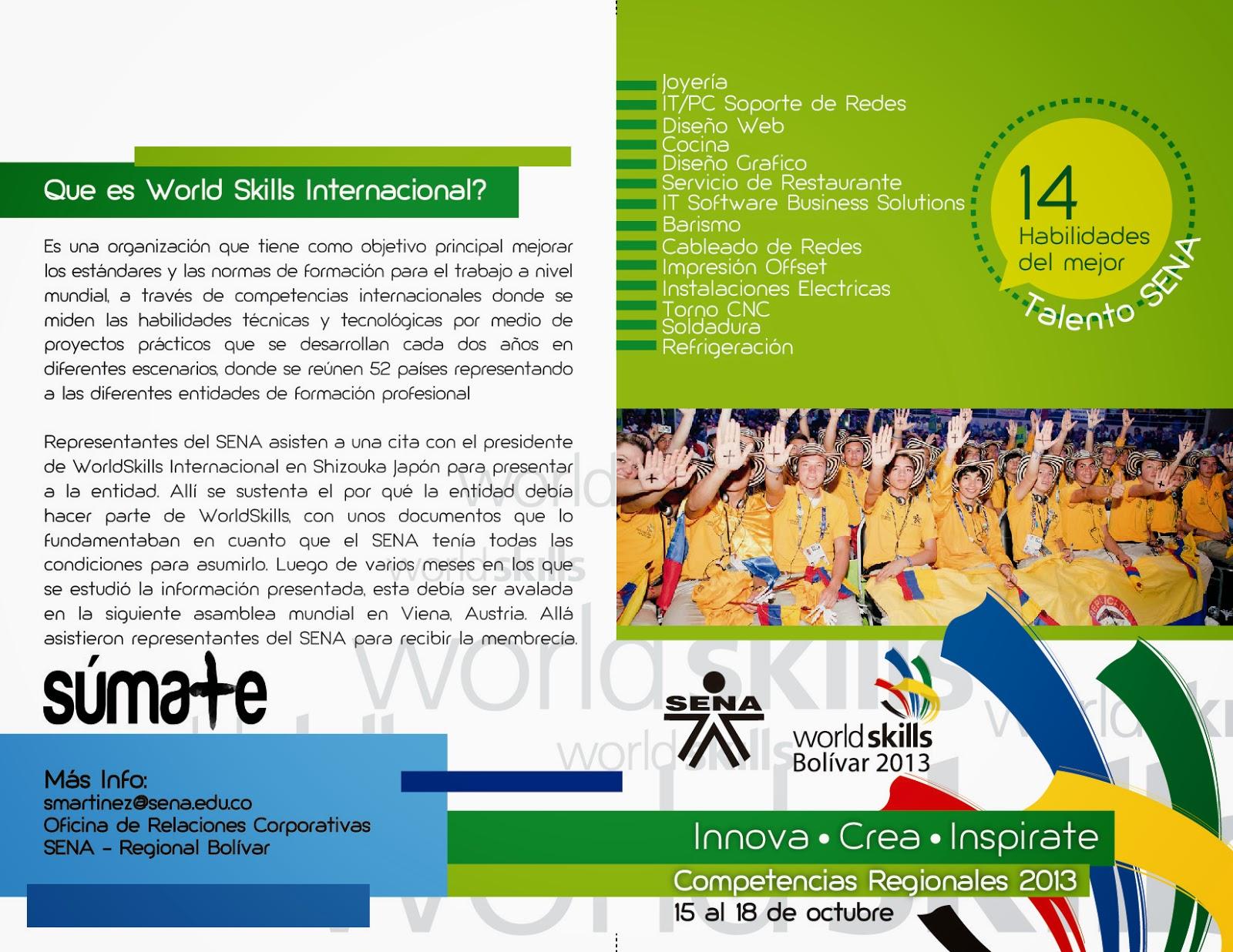 Centro de Comercio y Servicios / SENA Regional Bolívar: World Skills ...