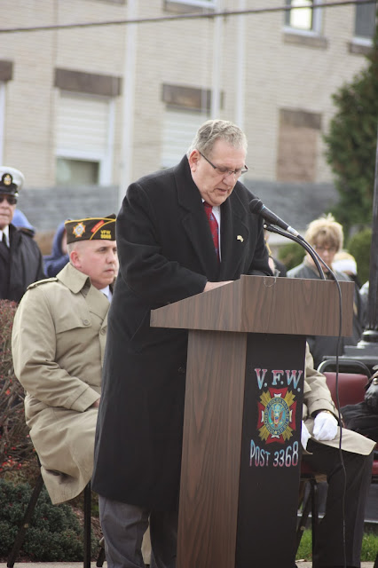 Mt. Pleasant Mayor speaking at Veterans Day program