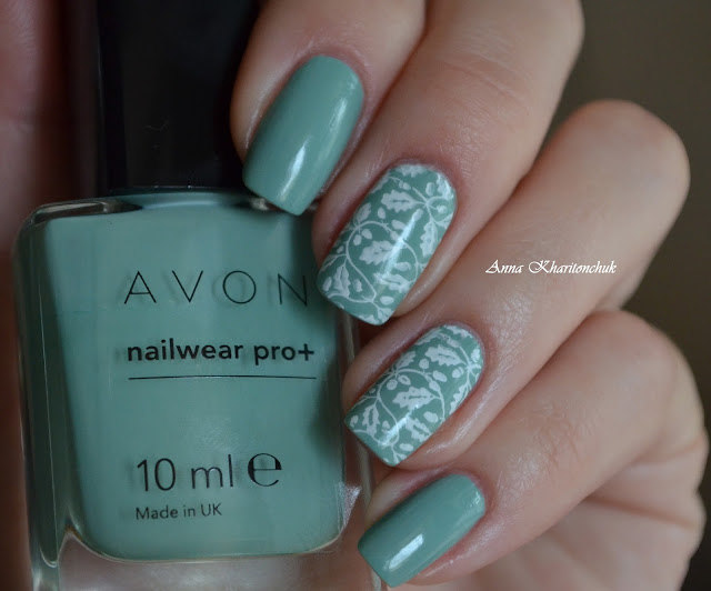 Avon nailwear pro+ Sea Breeze и стемпинг с пластиной Born Pretty Store BP-L016
