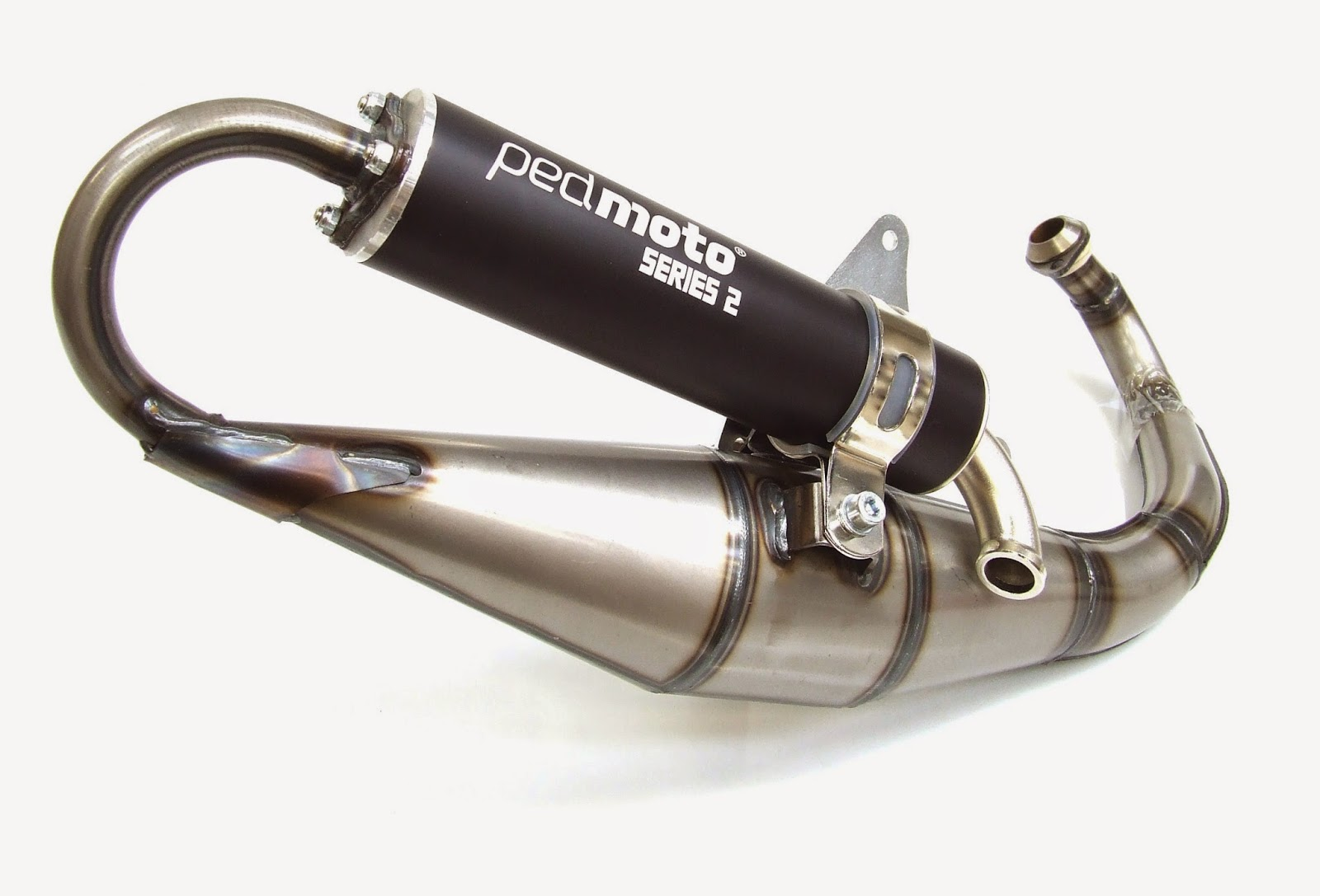 Pedmoto Series 2 Exhaust For Gilera Runner And Piaggio Zip Mk2