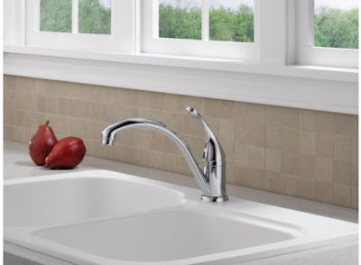 Delta 141-DST Collins Single Handle Kitchen Faucet