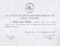 Visitante Ilustre de Villa Urquiza