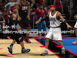 NBA 2K13 Reebok Answer IV Allen Iverson Shoes Patch