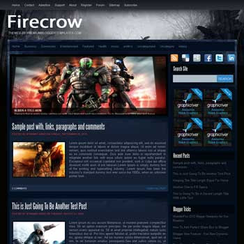 Firecrow blog template. template image slider blog. magazine blogger template style. wordpress theme to blogger. template blog games template