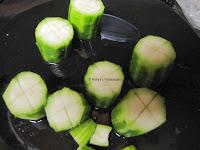 4 Stuffed Peerkangai Kuzhambu