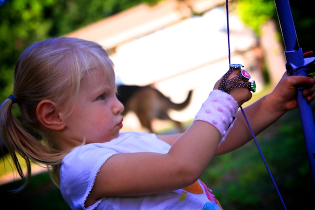 Life sprinkled with glitter pvc bow and arrow finger for Kids pvc bow