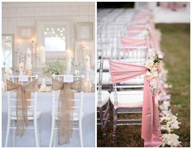 Decoraci n f cil decorar con telas las sillas para una boda for Sillas para novios en la iglesia