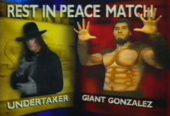 WWF / WWE SUMMERSLAM 1993: Rest in Peace match - The Undertaker vs. Giant Gonzalez