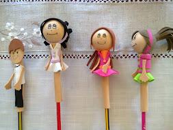 Ponteiras em EVA para lápis