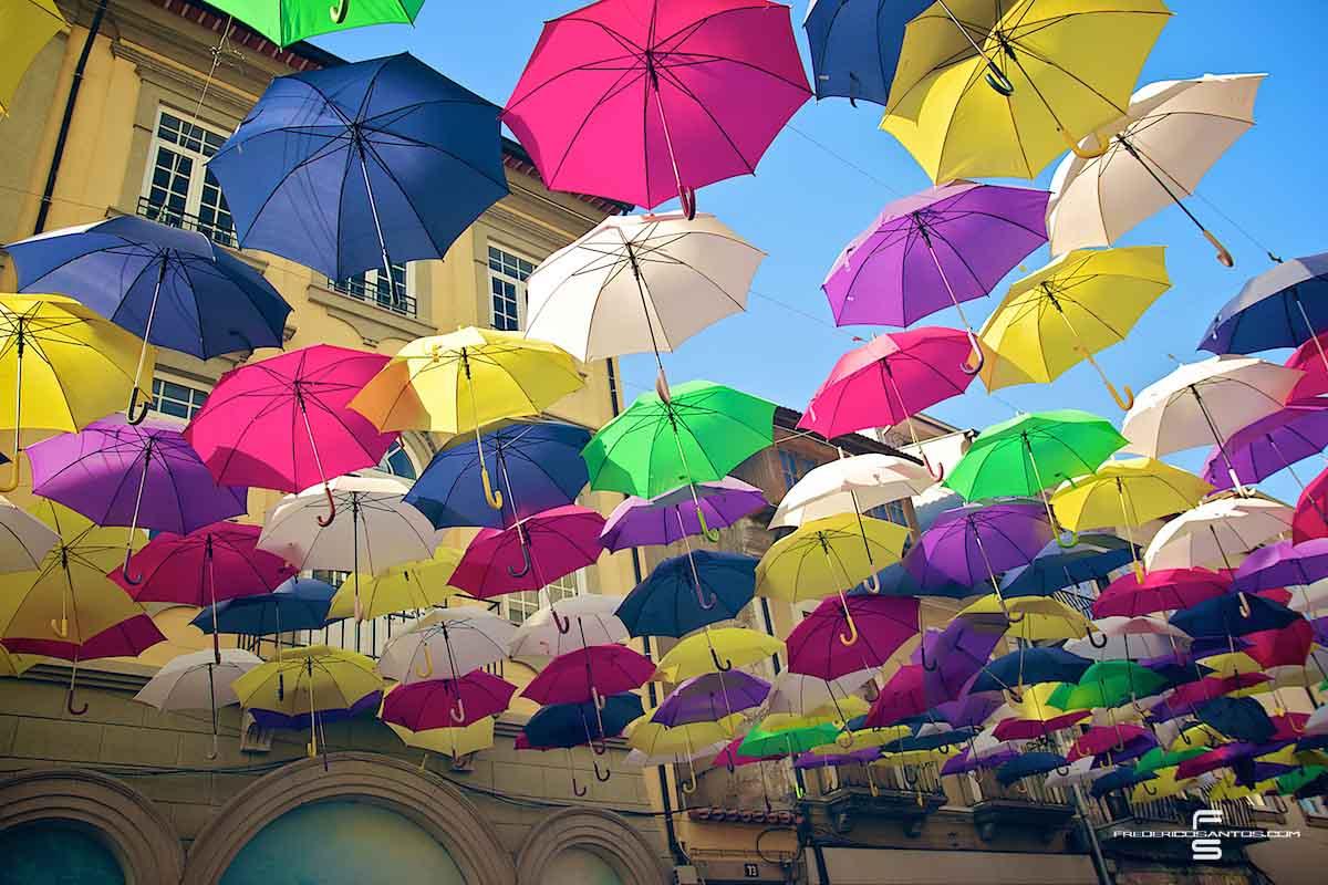 Agueda Portugal umbrellas guarda chuva