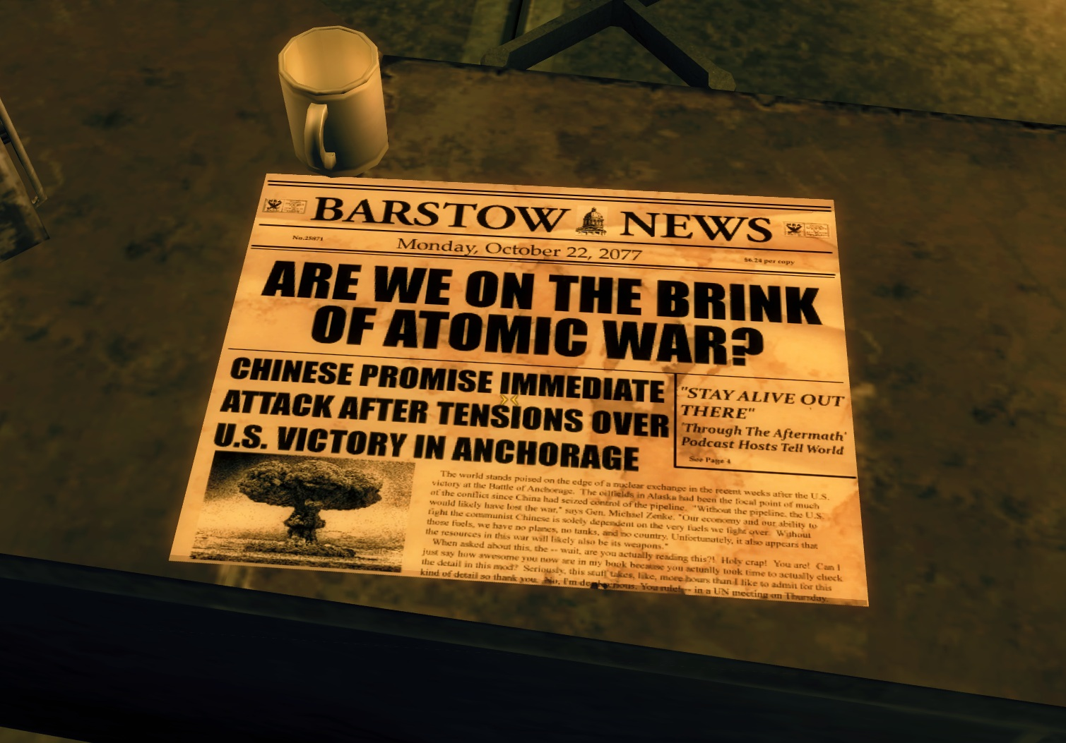 Image result for october 22 2077 fallout