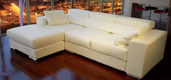 Tendencias hogar sofas de piel o tela - Como limpiar un sofa de piel blanco ...