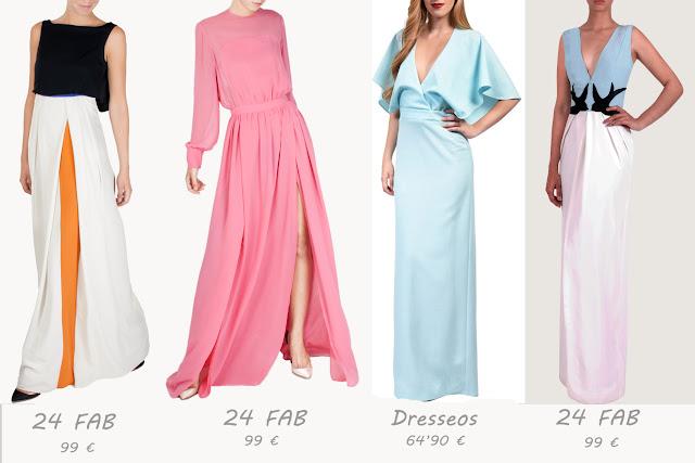 Vestido largo sin espalda con capa en azul claro de Dresseos