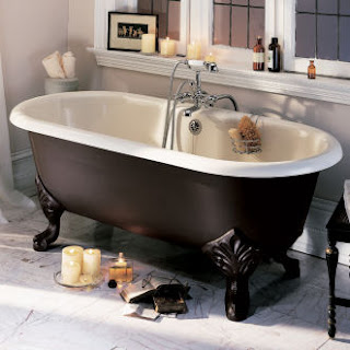 Hooked on hardware the epoque nouveau collection from porcher - Painting clawfoot tub exterior paint ...